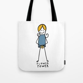 Flower Power! Beautiful Feminist Body-Positive Image Tote Bag