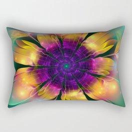 Artistic magical fantasy flower Rectangular Pillow