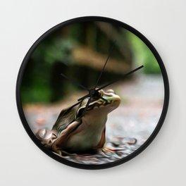 Frog Art One Wall Clock