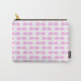 Joined At The Trunk Pink Carry-All Pouch
