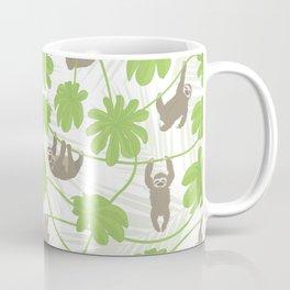 Happy Sloths and Cecropia leaves Coffee Mug