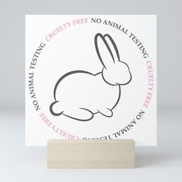 No animal testing | Cruelty free badge Mini Art Print