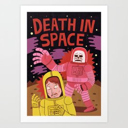 Death In Space B-movie Art Print
