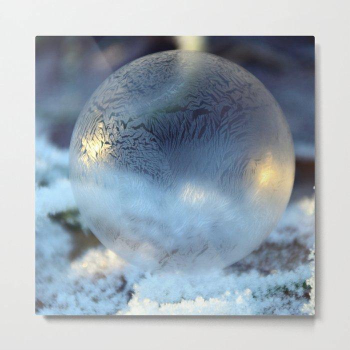 Christmas Bulb Aglow Metal Print