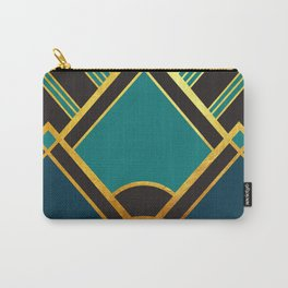 Art Deco New Tomorrow In Turquoise Carry-All Pouch