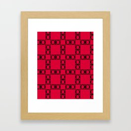 angle black & red Framed Art Print