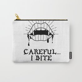 CAREFUL I BITE Carry-All Pouch