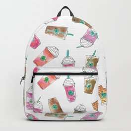 Coffee Crazy Toss in White Cream Backpack