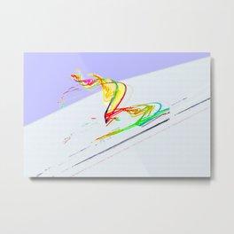 Skiing Metal Print