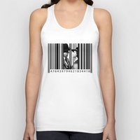 casablanca Tank Tops featuring Inside a Barcode. by Luigi Tarini