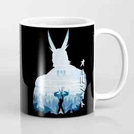 Minimalist Silhouette All Might Coffee Mug