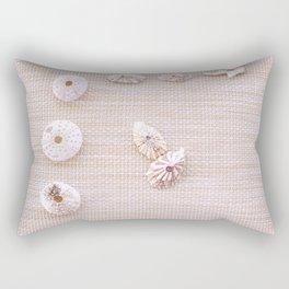 Urchins and seashells nautical design on textured background. Rectangular Pillow