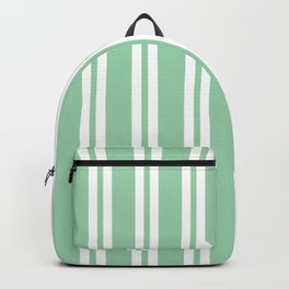 Mint Green Wide Small Wide Stripes Backpack