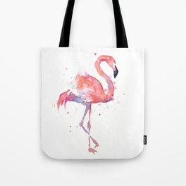 Pink Flamingo Watercolor Tropical Animals Bird Tote Bag