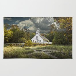 Old Mission Point Lighthouse in Early Autumn Rug