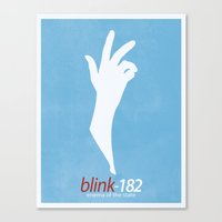 blink 182 Canvas Prints featuring Blink-182 'Enema of the State' Poster by 6B Artwork