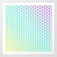 Tiny Triangles Art Print