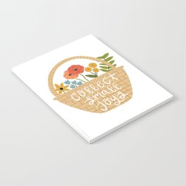 Collect Small Joys - Basket of Flowers Notebook
