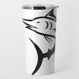 Blue Marlin Icon Travel Mug