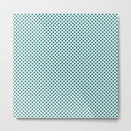 Jade Polka Dots Metal Print