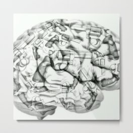 Human Brain weapon orig Metal Print