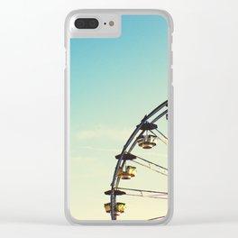 Vintage Ferris Wheel Clear iPhone Case