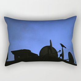 Incoming night on the city Rectangular Pillow