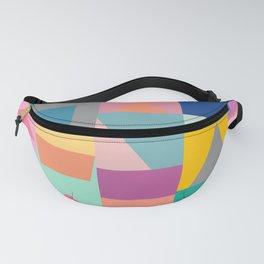 Colorful Geometric Shapes Puzzle Design Fanny Pack