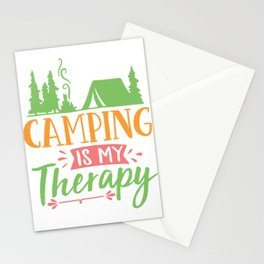 Camping is my therapy - Adventure Design Stationery Cards