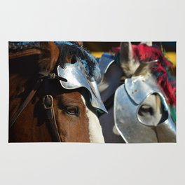 Jousting Horse - Armored Pair Rug