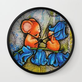 Bluebell Mice Wall Clock