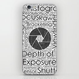 Photography Terms  Word Cloud Lens Shutter iPhone Skin