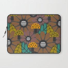 Autumn flowers, leaves and mushrooms Laptop Sleeve