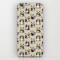 pandas iPhone & iPod Skins featuring Pandas by Olya Yang