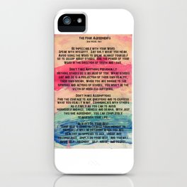 The Four Agreements 11 iPhone Case