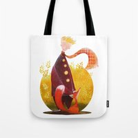 le petit prince Tote Bags featuring Le Petit Prince by Federica Fabbian