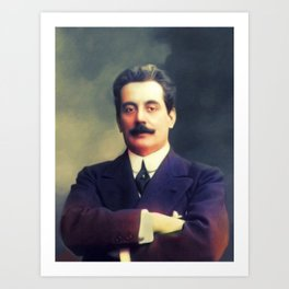 Giacomo Puccini, Music Legend Art Print