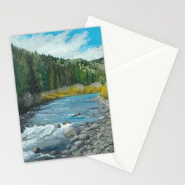 Mountain Stream Art Stationery Cards