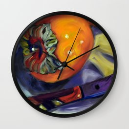 A Gift of Persimmons 2 Wall Clock