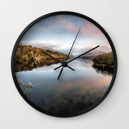 Lake Padarn Sunset Wall Clock