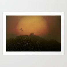 Mystical and misty Art Print
