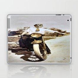 Vintage Early 1900's Motorcycle & Rider Laptop & iPad Skin