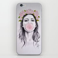 bubble iPhone & iPod Skins featuring Bubble by Libby Watkins Illustration