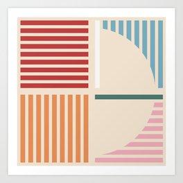 Abstract geometric 01 Art Print