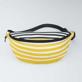 Cute yellow pattern with stripes Fanny Pack