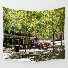 Street Cafes Wall Tapestry