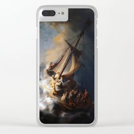 Rembrandt's The Storm on the Sea of Galilee Clear iPhone Case