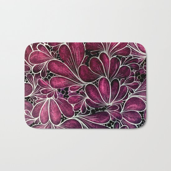 Funny Flowers Bath Mat