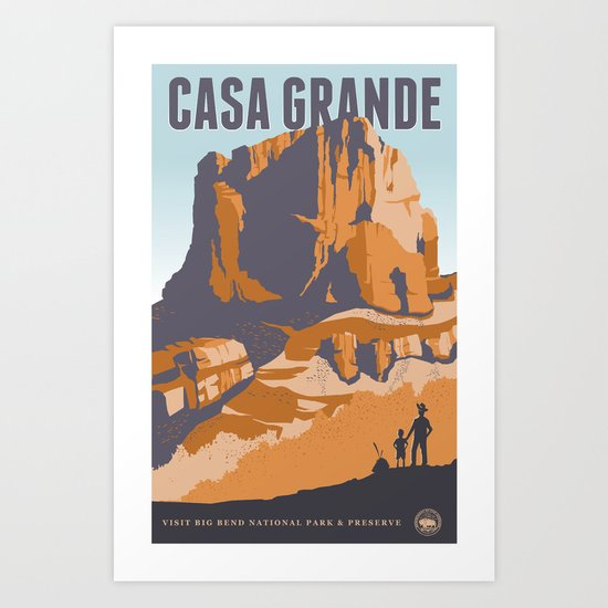 Big Bend Travel Poster Art Print