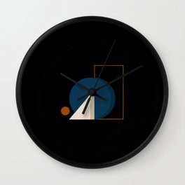 Abstrato 03 // Abstract Geometry Minimalist Illustration Wall Clock